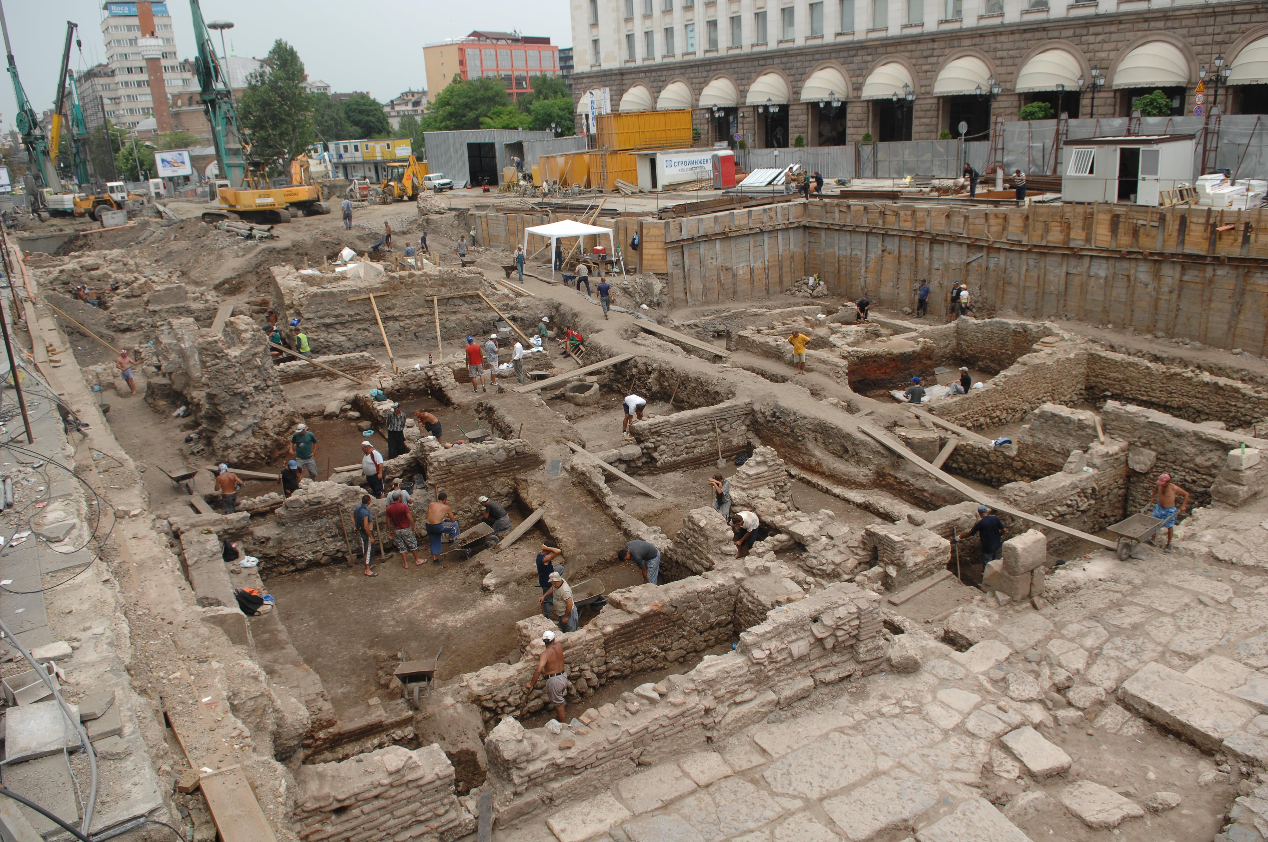 Roman city emerges from Sofia metro excavations
